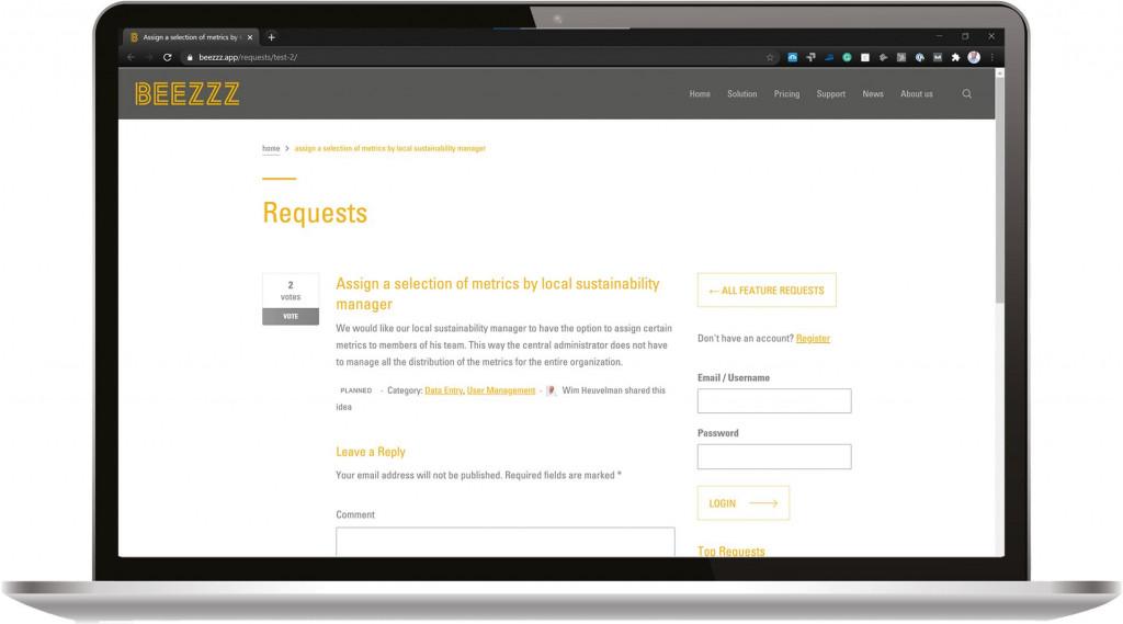 Beezzz Requests Detail